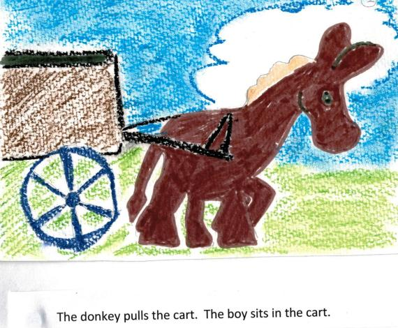 01 The donkey pulls the cart